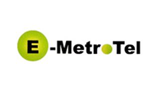 E-MetroTel logo